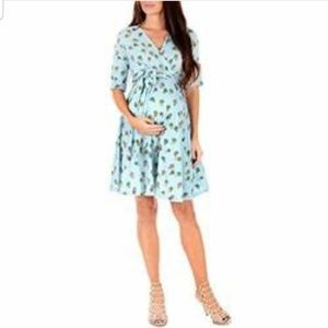 54b4bf40c863 Mother Bee · Mother Bee Maternity Wrap Dress